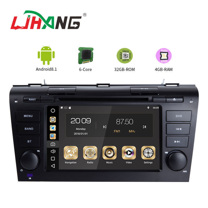 BT WIFI Stereo Radio Car Stereo With Gps Dvd Player , 8 Core HD Car Dvd Player